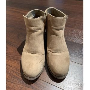 Ardene suede brown ankle boots